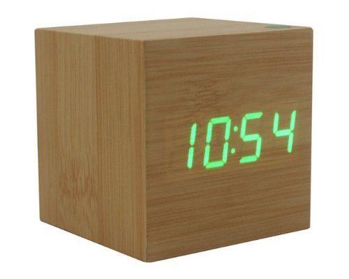Holz LED Wecker
