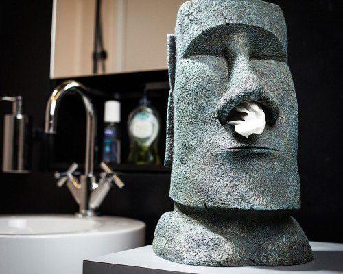 Taschentuch - Spender Moai