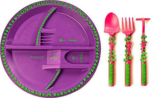 Constructive Eating - Gartenfee-Besteck mit Teller