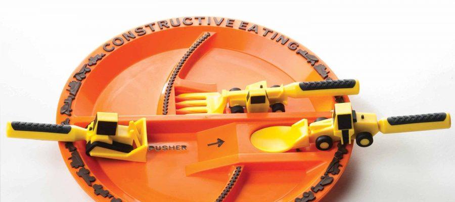 Constructive Eating - Das Set für den kleinen Bauarbeiter Ab jetzt darf mit dem Essen gespielt werden! Es ist ja nicht immer so einfach, die Kinder dazu zu bringen, ihren Teller le