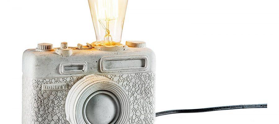 """Porzellan-Lampe """"Kamera"""""""