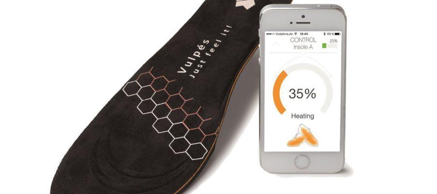 Die intelligente beheizbare Einlegesohlen gegen kalte Füße