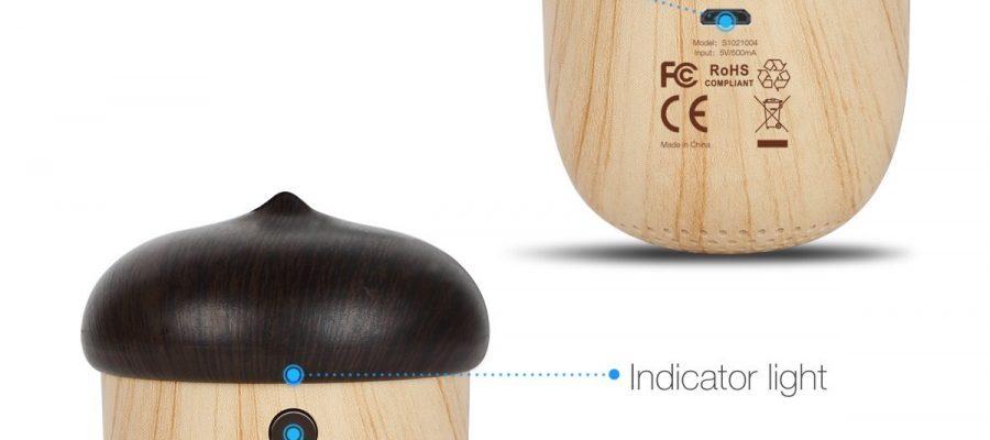 Mini Holz Bluetooth Lautsprecher mit Akku, im süßem Eicheldesign
