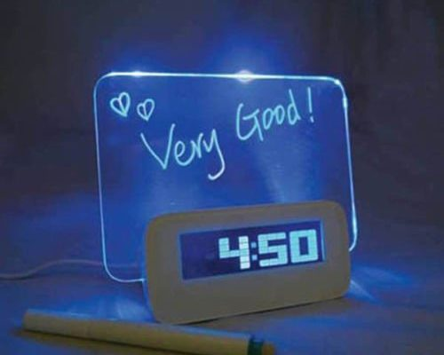 LED-Blaulicht Clock