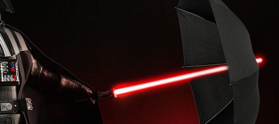 LED Lichtschwert Regenschirm
