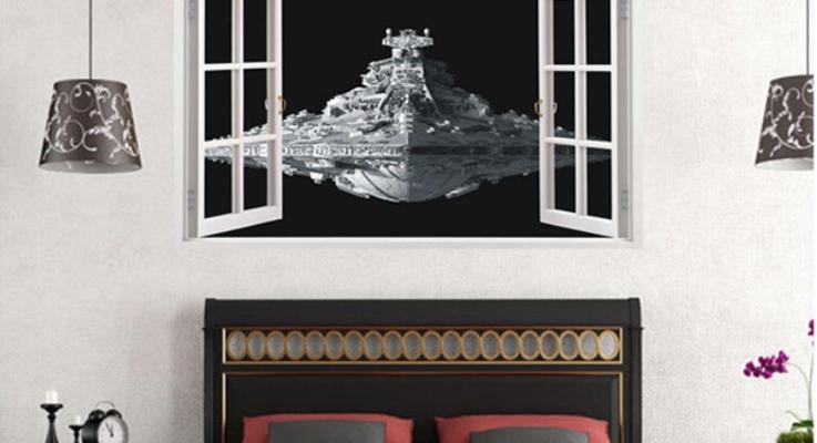3D Wandsticker Raumschiff