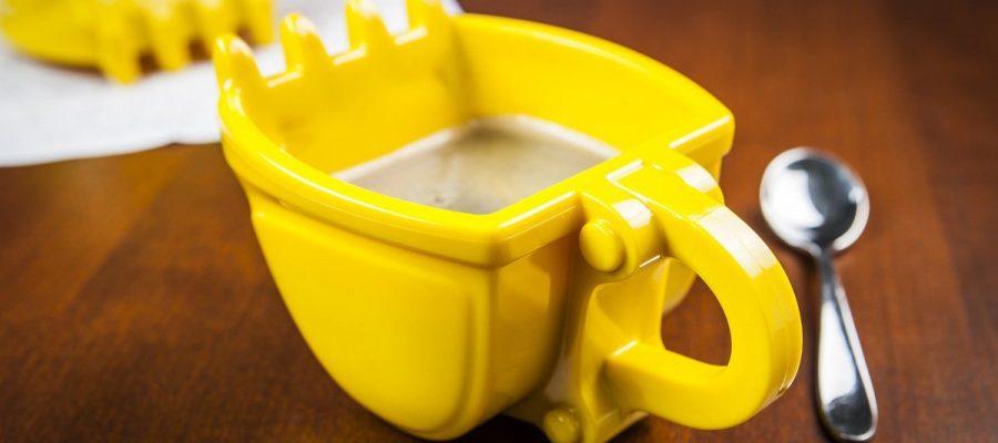 Bagger-Tasse, die Tasse für kleine Bauarbeiter